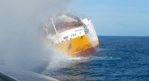 Another box ship crew forced to abandon ship as containers catch fire