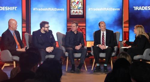 [Davos Recap Video] 'Brands need a heartbeat,' Matt Damon tells Davos, promoting Water.org