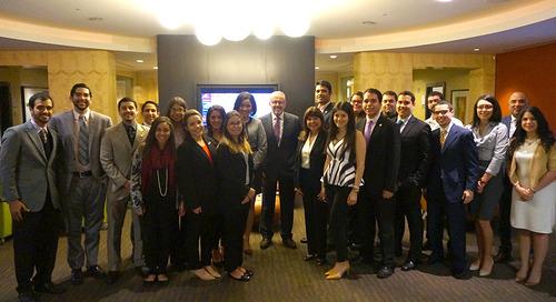 Cordova & Fernós Interns Meet with Univision's Bob Llamas