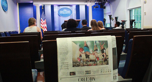 The White House Press Briefing Room Becomes a Classroom