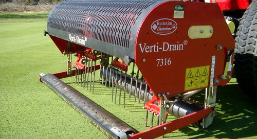Verti-Drain and Top Dressing Schedule Change ~ September 14th
