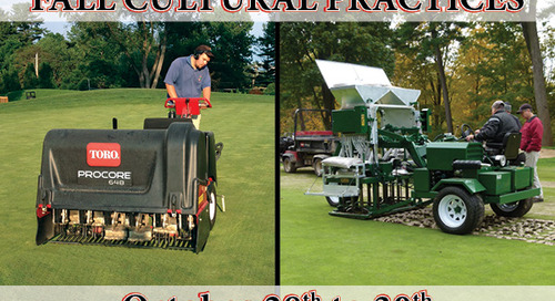 * Update * Fall Cultural Practices ~ October 28th to 30th