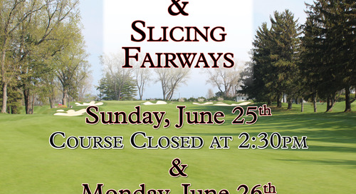 Punching & Slicing of Fairways ~ June 26th & 27th