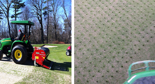 Verti-draining Greens & Top Dressing Fairways ~ Oct. 31st to Nov. 4th
