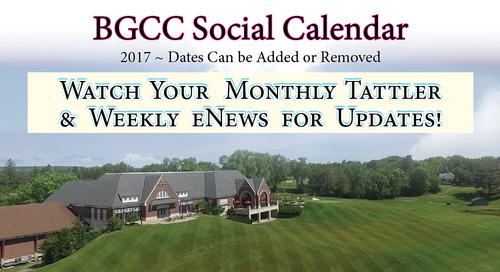 BGCC Social Calendar ~ 2017