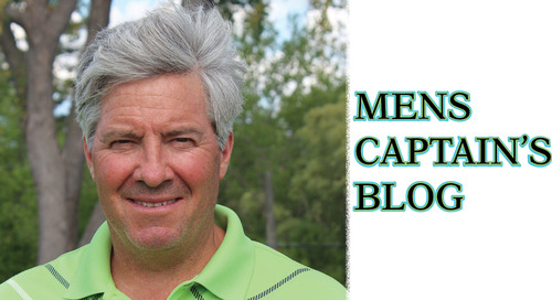 Welcome to the Mens Captain's Blog ~ Don't Miss These Upcoming Events!
