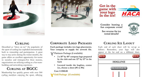 Ice Logo Program ~ 2017/18 Curling Season ~ Trifold Brochure