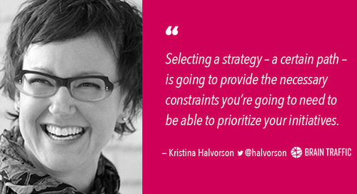 Don't Overthink It: Back to Basics for a Better Content Strategy [Podcast]