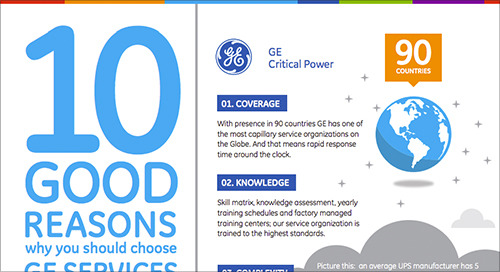 Infographic: 10 Good Reasons Why You Should Choose GE Services for Your UPS