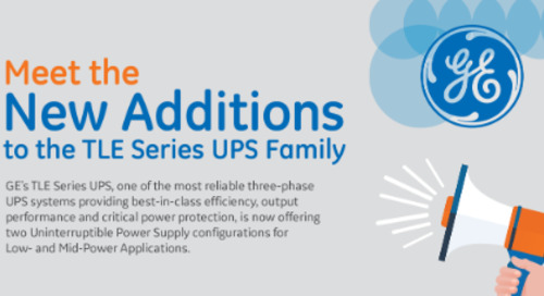 Infographic: Meet the New Additions to the TLE Series UPS Family