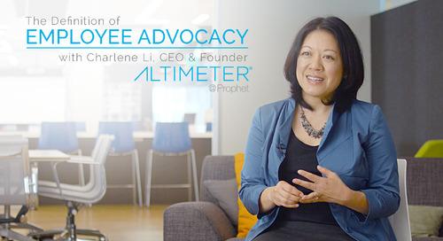 Charlene Li of Altimeter Defines Employee Advocacy