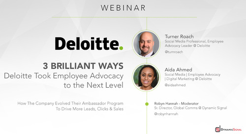 3 Brilliant Ways Deloitte Took Employee Advocacy to the Next Level