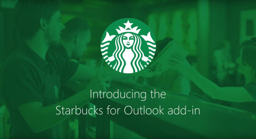 Starbucks now lets you book meetings & send gift cards directly from Outlook