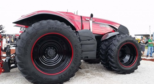 Self-driving tractors on their way to farms