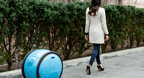 This robot carries your stuff…as it rolls along behind you