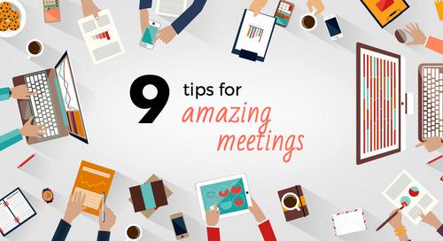 9 expert tips to run amazing meetings