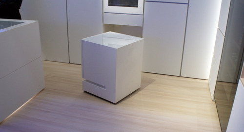 This moving fridge comes when you call it