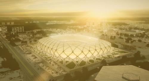 GE ilumina los estadios que recibirán la Copa del Mundo