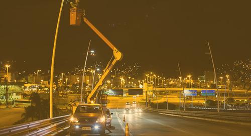 LEDs GE conectan continente e isla en Florianópolis