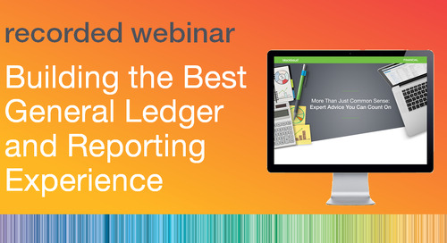 Building the Best General Ledger and Reporting Experience