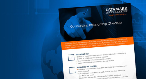 Outsourcing Relationship Checkup
