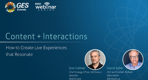 Webinar: BizBash & Dax Callner - Content + Interactions