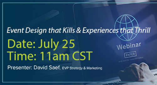 Webinar: Event Design that Kills & Experiences that Thrill