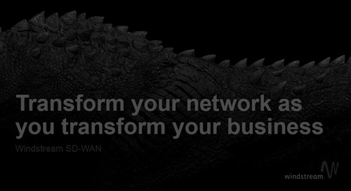 [Article] Leaving the Traditional Network WANosaurus Behind with SD-WAN