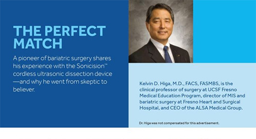 Bariatric Surgery with the Sonicision™ Cordless Ultrasonic Dissection Device