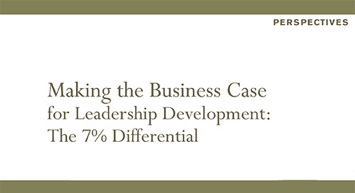 Making the Business Case for Leadership Development: The 7% Differential