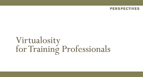 Virtualosity for Training Professionals