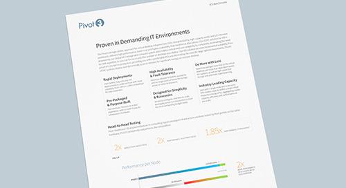 [Infosheet] Proven Performance for Virtual Desktop Infrastructure