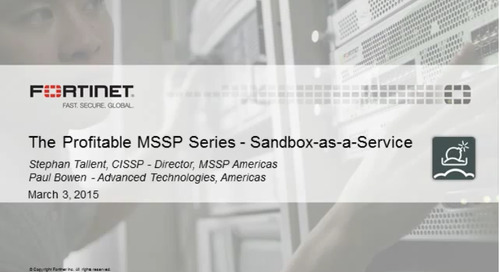 Sandbox-as-a-Service for MSSPs