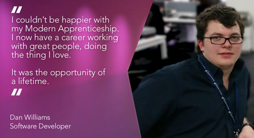 The Opportunity of a Lifetime - My Modern Apprenticeship