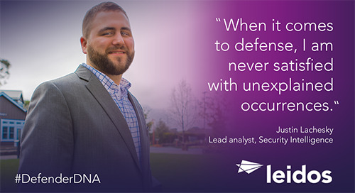 Justin Lachesky has #DefenderDNA