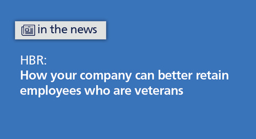 HBR: create an inclusive environment for transitioning veterans to improve retention