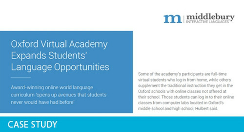Oxford Virtual Academy Expands Students' Language Opportunities
