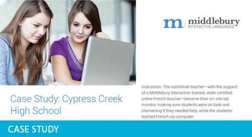Cypress Creek High School World Languages Case Study