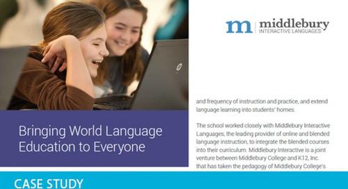 Bringing World Language Education to Everyone