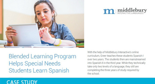 Spanish Program Creates Building Blocks for Student Success