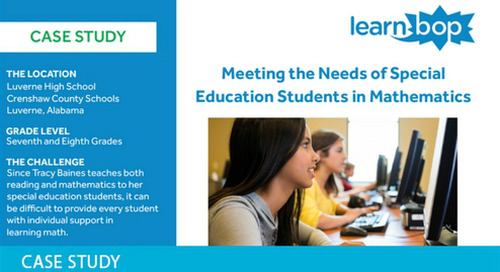 LearnBop Supporting Special Ed Students in Math