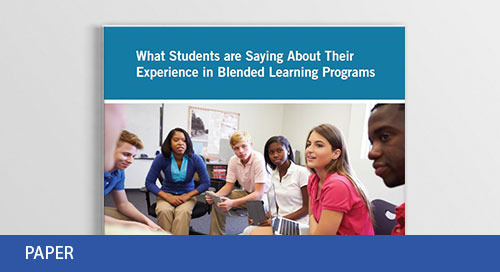 What Students are Saying About Their Experience in Blended Learning Programs