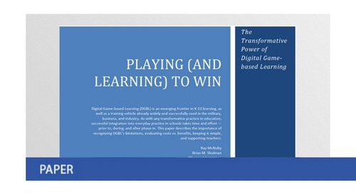Playing (and Learning) to Win