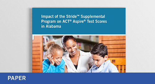Study on Impact of Stride on Test Scores