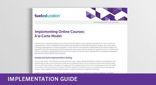 Implementing Online Courses: À la Carte Model