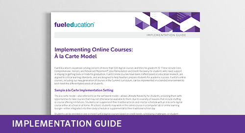 Implementing Online Courses: À la Carte Model
