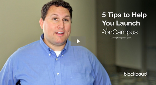 Jaime Lassman's 5 Tips to Help You Launch onCampus (LMS)