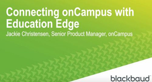 Connecting onCampus with Education Edge
