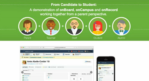 From Candidate to Student: A demonstration of onBoard, onCampus and onRecord working together from a parent perspective