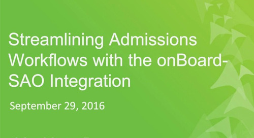Streamlining Admissions Workflows with the onBoard-SAO Integration